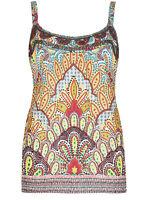 New Ex Per Una M&S Ladies Multi Colour Strappy Cami Vest Top Size 10