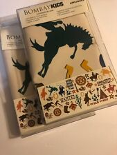 Bombay Kids Bedroom Wall Appliques Cowboy Western Rodeo Wallpaper 2 Packs New