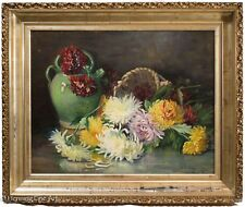 "Stunning Antique Floral Still Life Oil Painting from 1892 Signed ""Hovey"" FINE!"