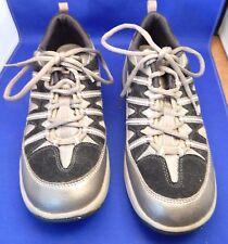 8.5M Easy Spirit JumpStarts Silver Metallic & Black Rocker Athletic Sport Shoes