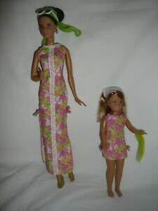 2005 Silver Label Lilly Pulitzer Barbie AND Stacie - Preowned - VERY NICE !