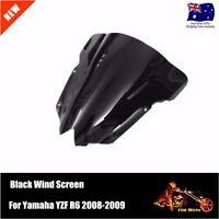 Windscreen Double Bubble Black Windshield 4 Yamaha YZF R6 08-09 Year 2008 2009