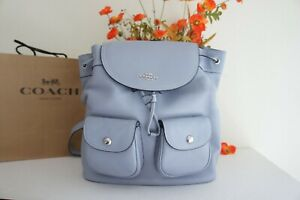NWT Coach 6145 Pennie Backpack w/Refined Pebble Leather In Twilight $428