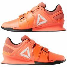 Reebok Legacy Lifter Men Weightlifting Training Gym Shoes Orange White DV4674