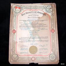 1928 BOY SCOUT - TROOP CHARTER - TROOP 1 - NEWBURGH N,Y,