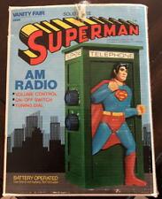 "SUPERMAN 7"" PHONE BOOTH RADIO w Original Box Vanity Fair Vintage 1978 DC Comics"