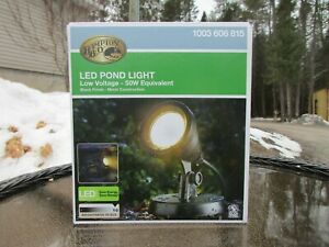 New, Hampton Bay 1-Light Integrated LED Black Low Voltage Pond Light
