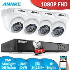 ANNKE 8CH 3MP H.264+ DVR Cloud Storage 2MP 1080P Security Camera System Home 1TB