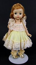 """Vintage Madame Alexander-Kins """" Wendy in Yellow Dress Gold Shoes"""" Bent Knee Doll"""