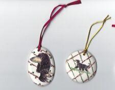 Afghan Hound Dog Ceramic Hand Made Xmas Decoration - NEW - choice of 2 Designs