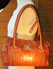 Clark's  Genuine leather Classic tote shoulder bag, conker Brown