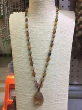 wholesale La shan gobi natural agate rough stone - Hand weaving rope necklace