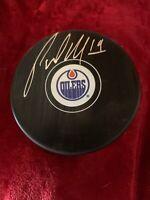 Patrick Maroon Sign Edmonton Oilers Hockey Puck Autographed Fanatics Sticker COA