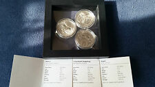 Mongolia Wildlife - Longeared Hedgehog, Argali and Manul 500 Togrog silver coin
