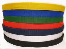 25MM Polypropylene Webbing strap Black Navy Blue White Green Red Yellow Colour