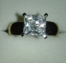 Ypg Over .925 Ss Size 10 Absolute By Hsn Princess Cut Solitaire W/