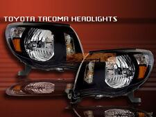 05-10 TOYOTA TACOMA HEADLIGHTS JDM BLACK 06 07 NEW LAMP