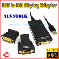 USB to DVI / VGA / HDMI Display Adapter Graphic Card Video Converter HD 1080P