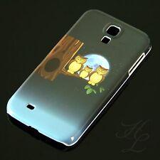 Samsung Galaxy S4 Hard Case Schutz Hülle Handy Schale Eule Mond Owl Etui