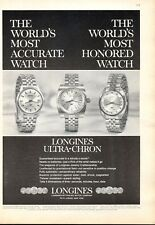 1969 Longines-Wittnauer Ultra-Chron #8014-- #8150 -- #8209 Watches PRINT AD