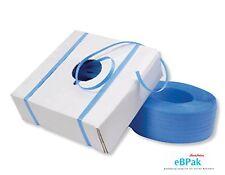 2 x 15mm x 1000m Blue Hand Poly Strap strapping polypropylene 110kg Break Load