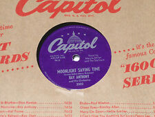 """RAY ANTHONY Moonlight Saving Time/ There Are Such Things 10"""" 78 Capitol 2002"""