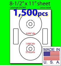 DVDNT, 1,500 CD/DVD Labels, Matte White Laser InkJet