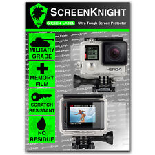 ScreenKnight Go Pro Hero 4 Silver FRONT & BACK SCREEN PROTECTOR invisible shield