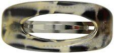Caravan Open Modern Twirl Barrette In Gold Combined With Black Strokes