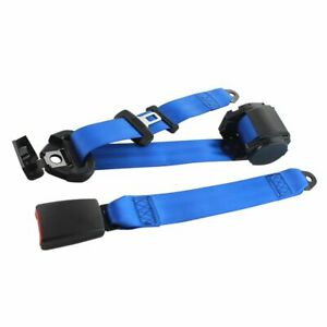1X Fits Proton 3 Point Harness Safety Belt Seat Belt Retractable Blue Universal