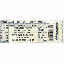 New listing Henry Rollins & Chemical Brothers & Bob Mould Concert Ticket Stub 4/18/09 Indio
