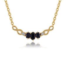 Collares y colgantes de joyería con gemas cadenas azules naturales