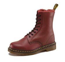 Dr Martens 12 13 Brady originals fur lined boots cherry red oxblood