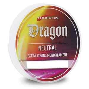 Monofil Angeln Dragon Neutral 100 MT Tubertini Meer See Klemmen Angelrolle Fil