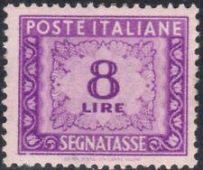 1947 italia repubblica Segnatasse Ruota Cifra £. 8