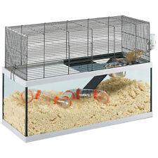 Habitat auf Zwei Ebenen Rennmäuse Streifenhörnchen Ferplast Gabry 80 Glas und Gi