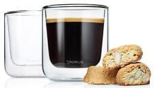 Blomus Nero Hand-Blown Double Glass Insulated Coffee/Tea Glass, Set of 2 (7 oz.)