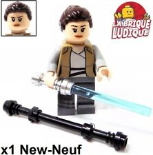 Lego - Figurine Minifig Star Wars Rey woman girl + weapon sw888 75200 NEW