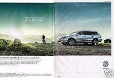 Publicité advertising 2012 (2 pages) VW Volkswagen Passat Alltrack