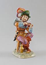 Figurine en Porcelaine musicien de mendiants avec Violon Ernst Bohne & Fils