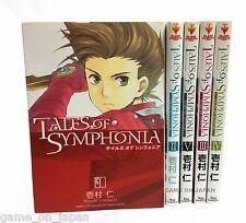 Tales of Symphonia Japanese Manga Japan Import Set of 5 Books Used