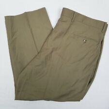 Mens Bios Gold Collection Dress Pants Slacks Size 42 Wool Italy Green Beige