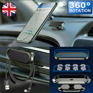 Magnetic Car Mobile Phone Holder Dashboard Mount Metal Plates 360 Rotating