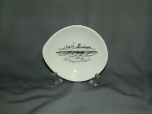 """Canadian Pacific """"S.S. EMPRESS of ENGLAND"""" China Pin Dish - Crown Staffordshire"""