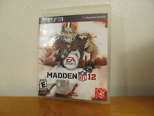 MADDEN 12 NFL - PS3 Playstation 3 Video Game
