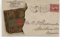 1897 Lorillard Company tobacco color Climax ad cover flag cancel [4882]