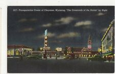 Transportation Center of Cheyenne Wyoming USA Vintage Postcard 261a