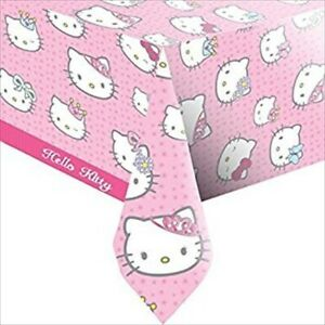 HELLO KITTY PLASTIC PINK TABLECOVER TABLE CLOTH PARTY TABLEWARE 138 X 183 CM NEW