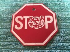 Vintage Tony the Tiger Plastic Stop Sign -Key Chain?