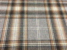 Colefax & Fowler Wool Upholstery Fabric- Nevis Plaid/Charcoal 2.25 yd (F4108-01)